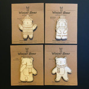 Winter Bears - Set of 4